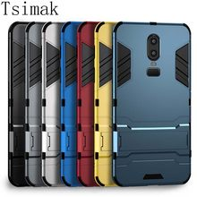Tsimak Case For Oneplus 3 3T 5 5T 6 6T 7 Pro one plus 6 T 7 Cover Silicone Shockproof Protection PC+TPU Armor Back Phone Coque(China)