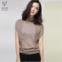 High Quality Brand Clothing Women Autumn Sweaters Female Turtleneck Women'S Sleeveless Crop Top Elegant Sweater Wt944