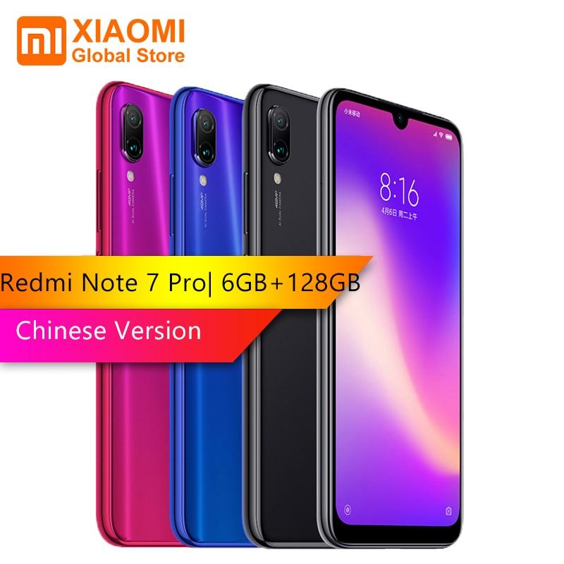 Xiaomi Redmi Note 7 Pro 6 GB RAM 128 GB ROM octa-core processeur 48MP IMX 586 caméra téléphone Mobile 4000 mAh Version chinoise