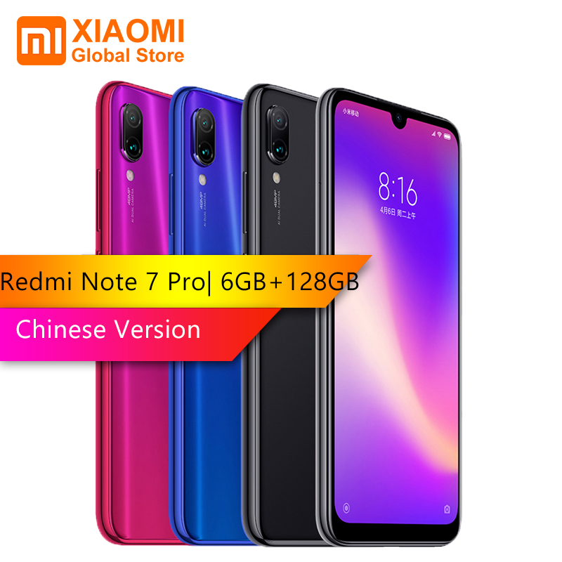 Xiaomi Nota Redmi 7 Pro 6GB de RAM 128GB ROM octa-processador de núcleo 48MP IMX 586 Câmera Móvel telefone 4000mAh Versão Chinesa