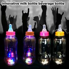 Glow In The Dark Luminous Milk Bottle Party DIY Bright Paint Star Wishing Bottle Fluorescent Particles Juice Bottle все цены