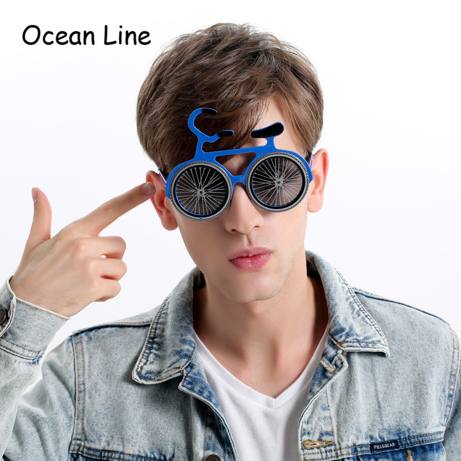 Funny Bicycle Glasses Novelty Bicycle Sunglasses Party Props Cosplay Costume Favors Events Festive Party Supplies Decoration