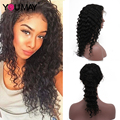 Pre Plucked 360 Lace Wig 7A Brazilian Full Lace Wigs With Baby Hair 180% Density Deep Wave 360 Full Lace Front Human Hair Wigs