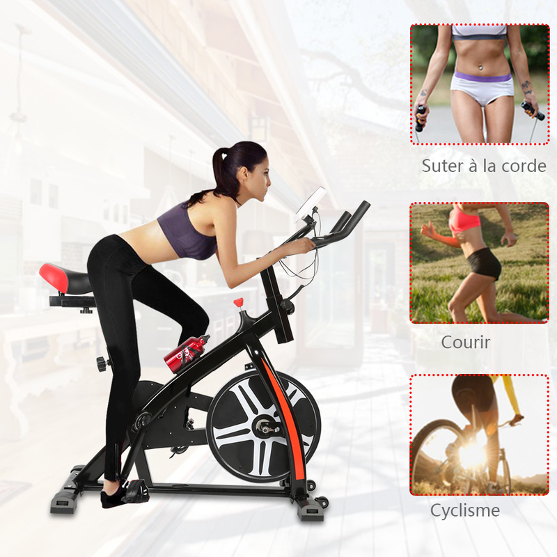 2018 New Pedal exercise bicycle mute household magnetic stationary exercise bike indoor fitness cycling equipment bicycle HWC