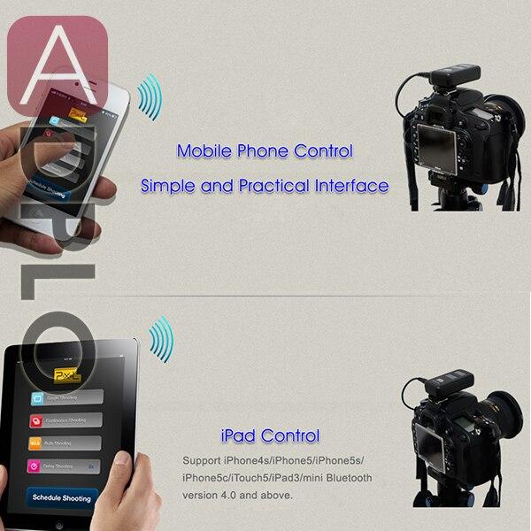 Pixel BG-100 Bluetooth Wireless Camera Timer Remote Trigger work For nikon D700 D300 pixel tc 252 dc0 wired lcd timer remote control shutter for nikon d700 d200 d810