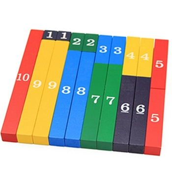 Montessori children's color decimal bar kindergarten early wooden education math toy baby toy montessori material math introduction to decimal symbol wooden learning numbers early education children toy
