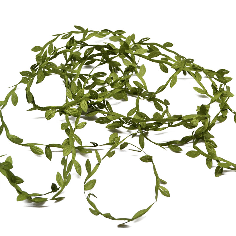 10 Meter Silk Leaf-Shaped Handmake Artificial green Leaves For Wedding Decoration DIY Wreath Gift Scrapbooking Craft Fake Flower 4