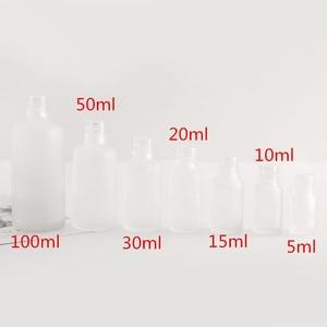 Image 5 - 12x5ml 10ml 15ml 30ml 50ml 100ml 서리 유리 Dropper 병 빈 화장품 포장 용기 약병 에센셜 오일 병