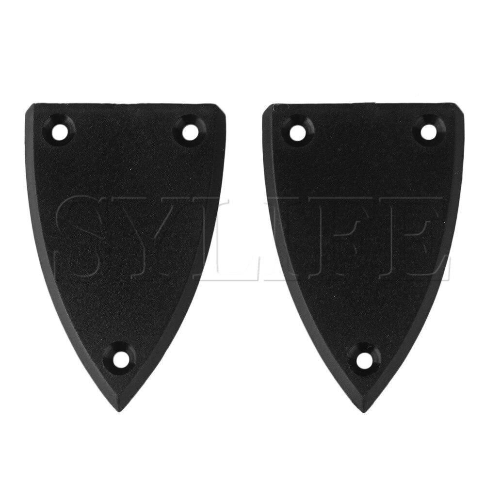 1 Set Of 2 Plastic Black Rod Covers 3hole Fit Guitar