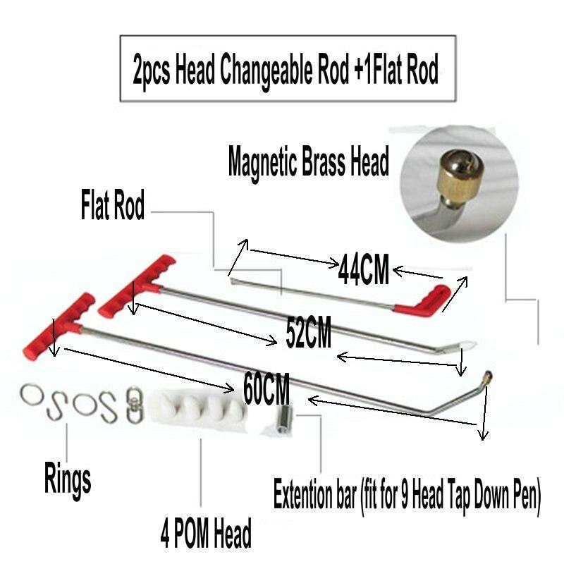 Magnétique PDR Crochet Outils Poussoir Voiture Crowbar Débosselage sans peinture Outils PDR Dent Puller Lifter Kits Ding Grêle Extracteur ensemble