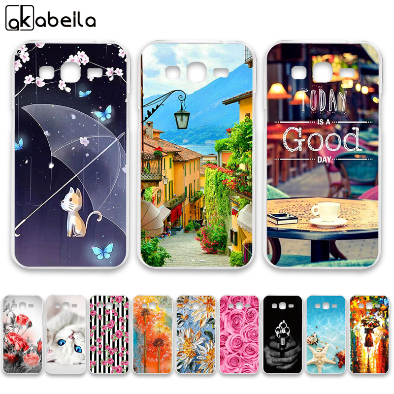 AKABEILA Soft TPU Phone Cases For Samsung Galaxy Grand 2 G7102 G7105 G7106 G7108 G7109 G7100 G71S SM-G7102 Covers Bags image