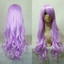 WIG Cosplay Fashion Wig Hair New Long Pink Purple Cosplay Beautiful Wavy Curly Wigs Free Shipping(China)
