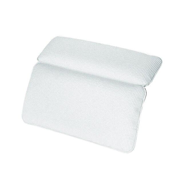 White SPA Bath Pillow Non slip Bathtub Headrest Soft Waterproof ...