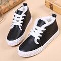 Envío de la Nueva Llegada de Las Mujeres de LA PU Cordón Zapatos Casuales Zapatos de Plataforma Otoño Invierno Al Aire Libre con el Tamaño de la Felpa 35 ~ 40