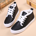Free Shipping New Arrival Women's PU Lacing Casual Shoes Platform Autumn Winter Outdoor Shoes with Plush Size 35~40