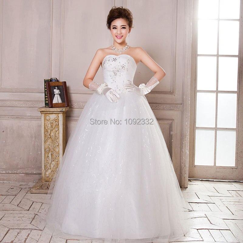S Stock 2016 New Plus Size Women Tube Top Bridal Gown: S 2016 Stock New Plus Size Women Vintage Princess Bridal