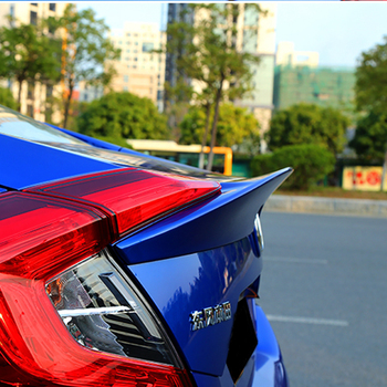 AITWATT Car Styling Carbon Fiber Spoiler Rear Trunk Boot Wing Lip Tail Spoiler For Honda Civic 10th 2016 2017 2018 2019