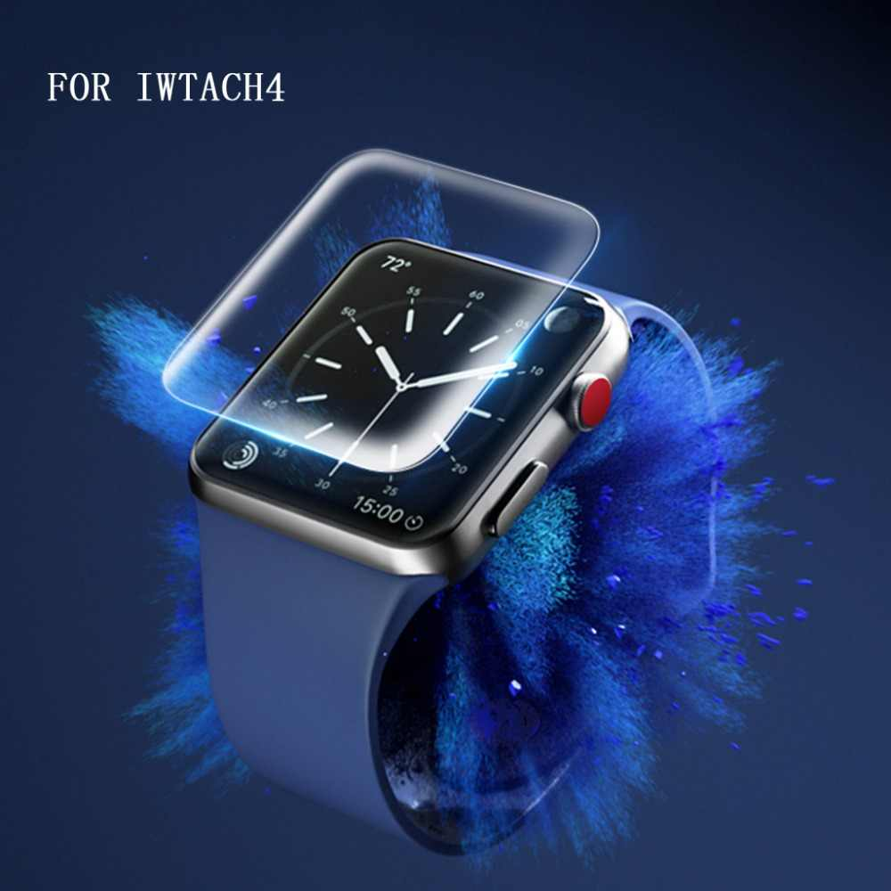 For Apple Watch iWatch Series 1/2/3/4 9H 3D Curved Full Coverage Tempered /Soft TPU Glass Screen Protective Film 38/ 42/40/44mm