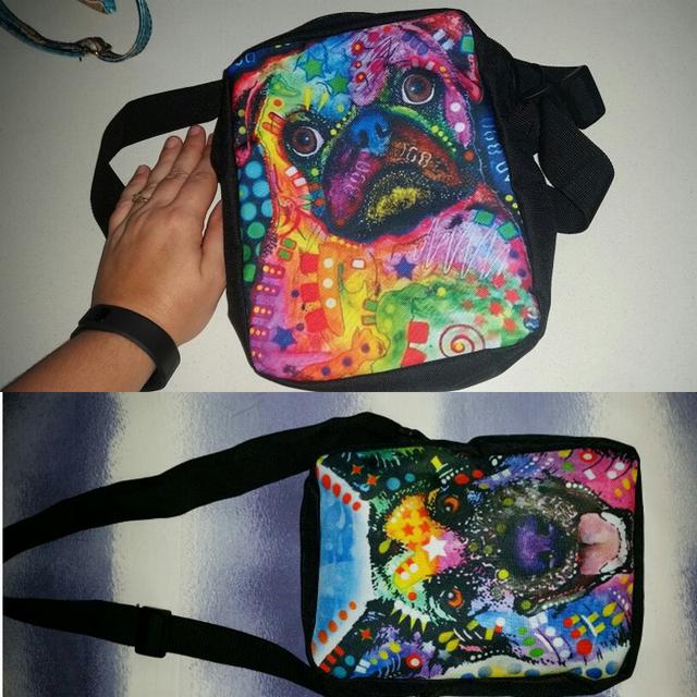 FORUDESIGNS Women Messenger Bags Colorful Pet Dog Printing Shoulder Bag Girls Cross Body Bag Pug Bulldog Messenger-Bag for Woman