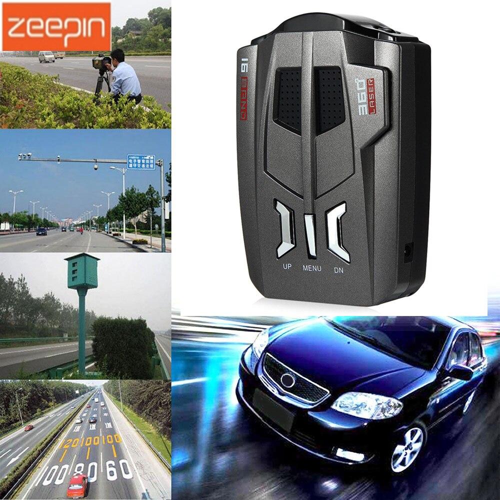 V9 Auto Trucker Geschwindigkeit 360 Grad Fahrzeug Radar Detektor Akustischer alarm Warnung 16 Band Auto LED Display Englisch/Russisch version