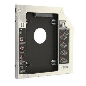 "Image 2 - Universal Aluminium 2nd HDD Caddy 12,7mm SATA III für 2,5 ""12,5mm 9,5mm 9mm 7mm SSD HDD Fall Gehäuse + Dual LED für Laptop ODD"