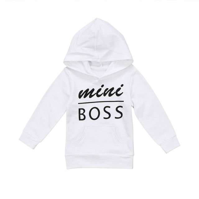 Pudcoco 2017 Casual Baby Boys Girls Hoodie Tops Toddler Newborn Letters Outta Mini Boss Hooded Sweatshirt Outfit Clothes 0-5Y