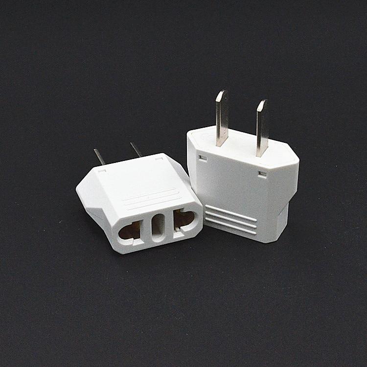 10pcs/lot Brand new black Universal Travel Power Plug Adapter EU EURO to US Adaptor Converter AC Power Plug Adaptor Connector