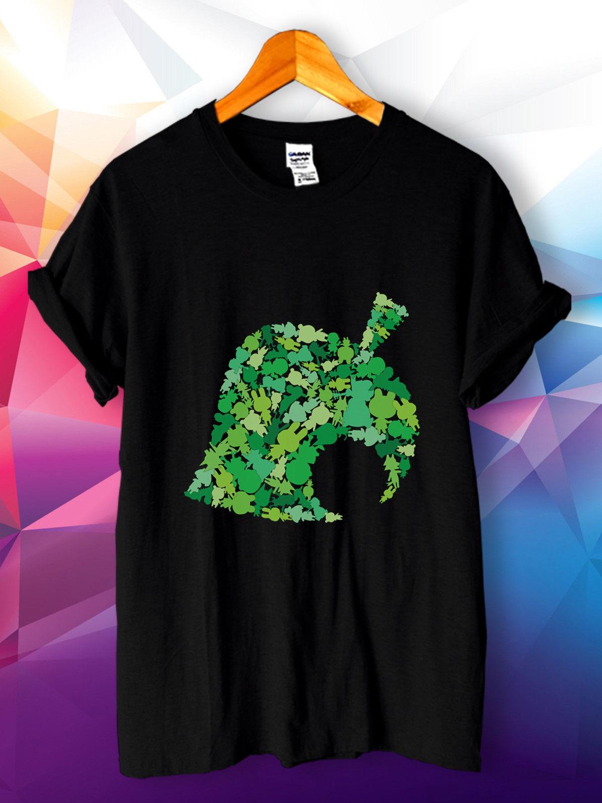 Animal Crossing новый лист логотип Gamer Новый Street Wear Повседневное футболка S, M, L, XL, 2XL ...