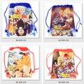 12 Unids Dragon Ball Cartoon Kids Impreso Con Cordón Escuela Viajan Mochila de Compras Bolsos de Fiesta de Regalos de Cumpleaños
