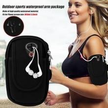 5.5 Universal Nylon Mobile Phone Armband Outdoor Gym Sports Running Gear Wrist