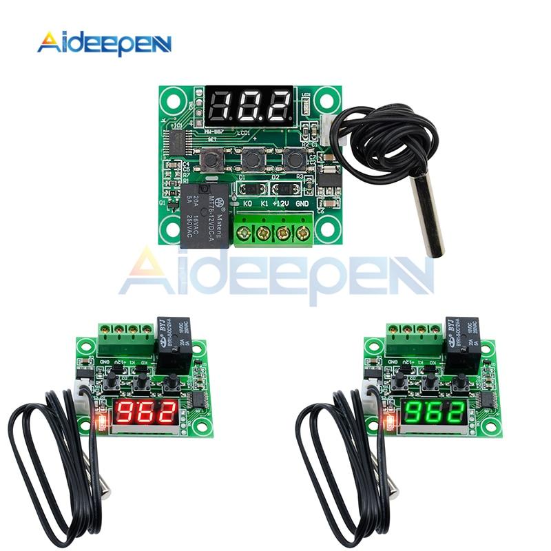 "0.56/"" 12V Green Digit Thermometer 50~110C Temperature Detector LED Temp Probe"