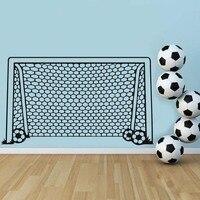 Rede do Gol De Futebol Bola Esportes Decalque Da Parede Do Vinil Da Decoração Da Arte Adesivo de parede Para O Quarto Dos Meninos Crianças Nursery Home Decor Pintura Mural Da Parede