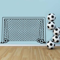Un But De Soccer Football Net Sports De Balle Sticker Vinyle Décor Art Wall Sticker Pour Garçons Chambre Enfants Nursery Home Decor Papier Peint