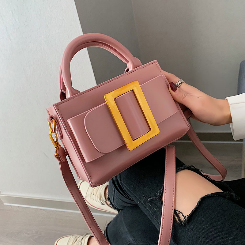 2019 Fashion Metal Lock Mini Small Square Pack Shoulder Bag Crossbody Package Clutch Women Designer Wallet Handbags Bolsos Mujer