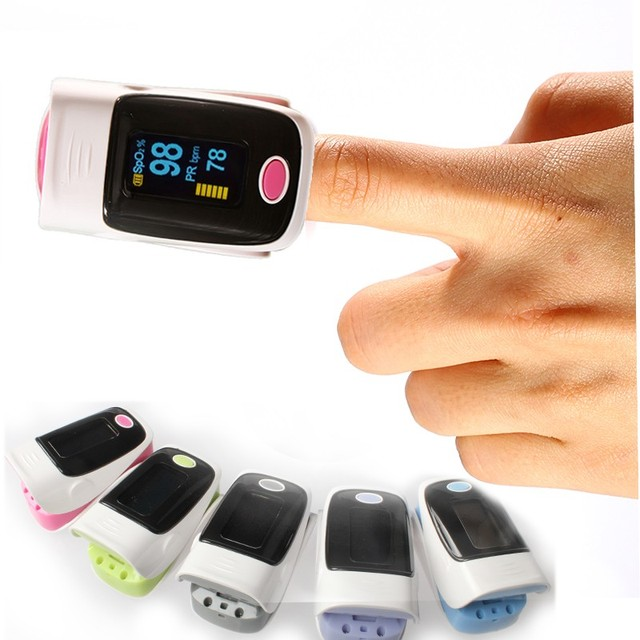 Digital Finger Pulse Oximeters with Blood Pressure Heart Rate Monitor Oled Display Alarm Setting