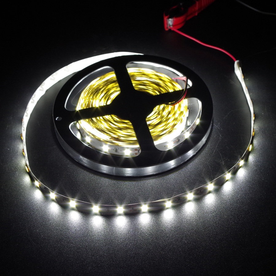 YUMSEEN 5m/Lot 5630 SMD 300 Chips Flexible LED Strip White Color 12V Led Tape Atmosphere Lighting Free Shipping for ford mondeo auxmart triple row led chips 12 led