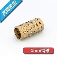 MGBGS05101S Độ Chính Xác Cao Micro tay áo Bộ Bóng của hạt cage Tuyến ball tay áo ống lót bằng đồng thép không gỉ bóng