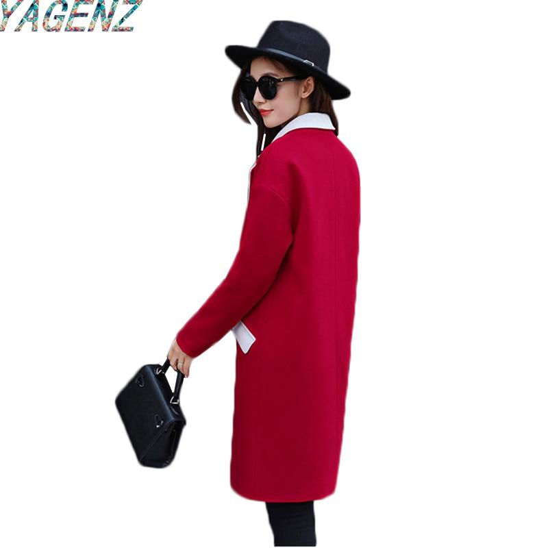vent Femmes Pardessus Femelle gray navy Coupe Hiver red Solide Yagenz Automne Manteau Tranchée 2017 taille Pink De Large Couleur Moyen longue Casual vHdwf6