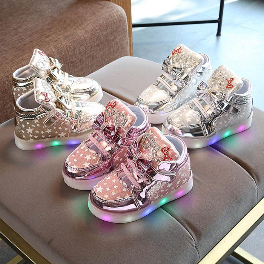 Toddler Baby Fashion Sneakers Star Luminous Child Casual Colorfu 100% brand new and high quality Anti-slip design keeps baby