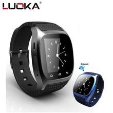 Водонепроницаемый SmartWatch M26 Bluetooth Smart часы с LED alitmeter музыкальный плеер шагомер для Android смартфон T30