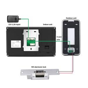 Image 5 - 7 cal przewodowy Wifi wideo telefon drzwi intercom system wprowadzania z elektryczne strajk blokada