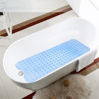 PVC Bathtub Bath Mat With Sucker Security Bathroom Shower Mat Applicable To Elderly Children And Pregnant