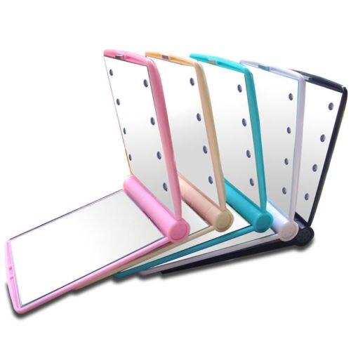 Kurze Solide Beauty 8 Led Lamparas De Luces Cosmetico Plegable Portatil Compacto Bolsillo Led Licht Spiegel Durable Kreative VerrüCkter Preis Haus & Garten