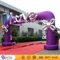 Фиолетовый надувной свадьба арки 6 м в ширину с ЛЮБОВНОЕ письмо или настроить BG-A1196 игрушки