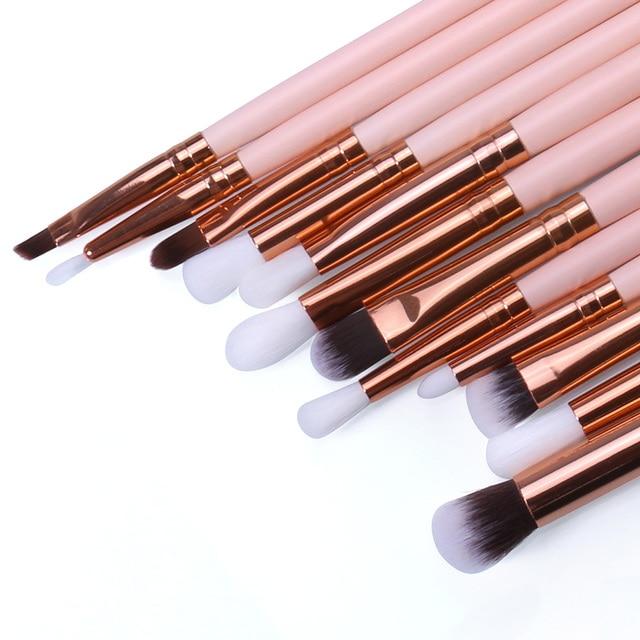 O.TWO.O 12PCS/SET Makeup Eye Brushes Set Wood Handle Eyeshadow Eyebrow Eyeliner Blending Powder Smudge Brush Kit 2