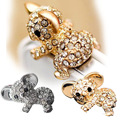 New Cute Diamond Cat Pattern koala Anti Dust Plug For Phone Accessories Earphone Jack