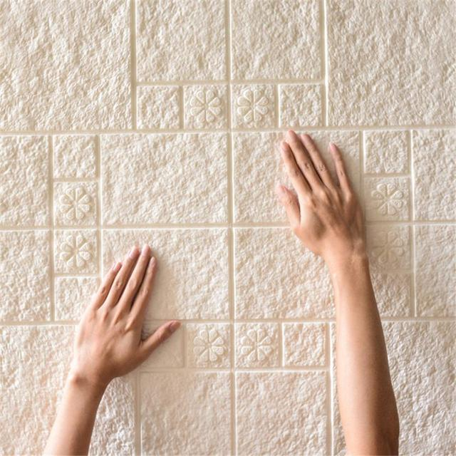 Wall Sticker Pe Foam 3d Wallpaper Diy Wall Stickers Wall