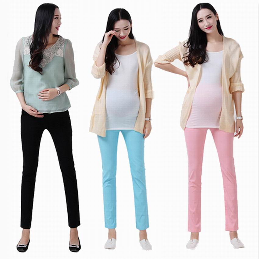 Fashion Plus size maternity font b legging b font spring and autumn trousers candy color all