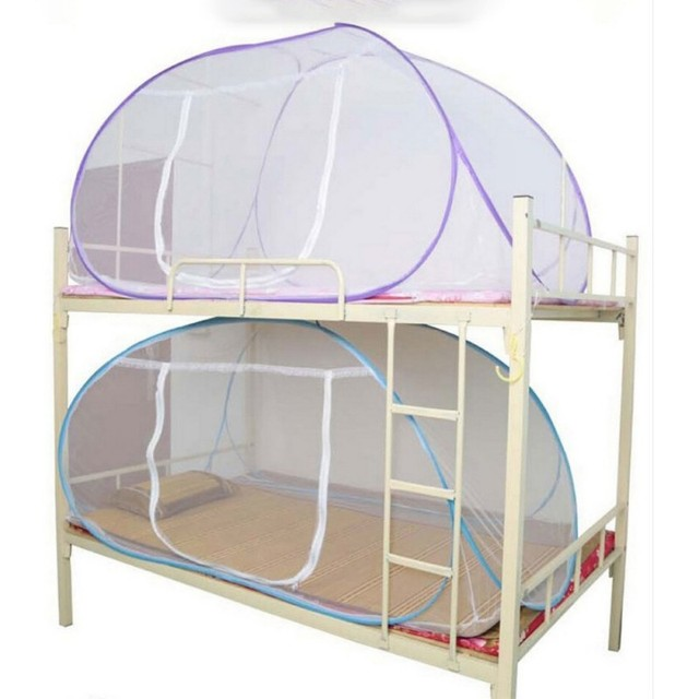 90f809b34d6ec البعوض صافي سرير الوردي الأزرق الأرجواني طالب سرير بطابقين صافي شبكة رخيصة  الثمن الكبار مزدوجة شبكة