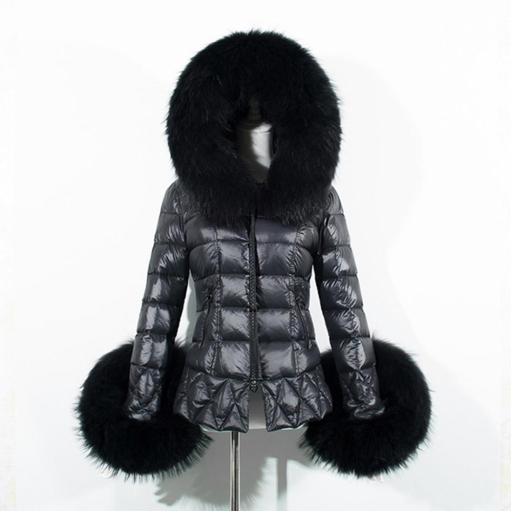 New Winter Down Cotton Jackets Boutique Fake Leather Women Coats Fashion Hooded Fur Collar   Parkas   Plus Size Cotton Outerwear